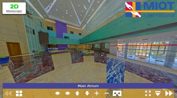 MIOT Hospitals 360 Virtual Tour